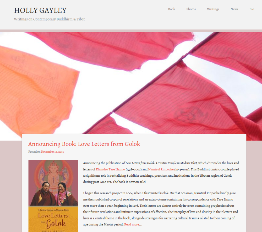 Congratulations on Love Letters from Golok: A Tantric Couple in Modern Tibet  which was twelve years in the making! It's beautiful to watch your karma  with ...