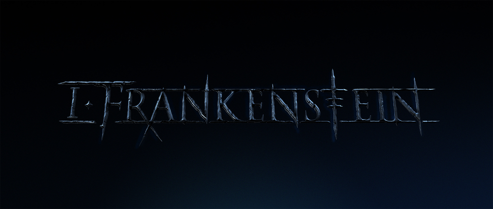 The final I Frankenstein logo lock up for the Film and Marketing PR.