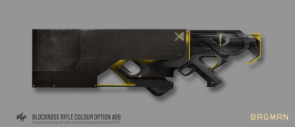 Final colour and texture of the Block Nosed Rifle.