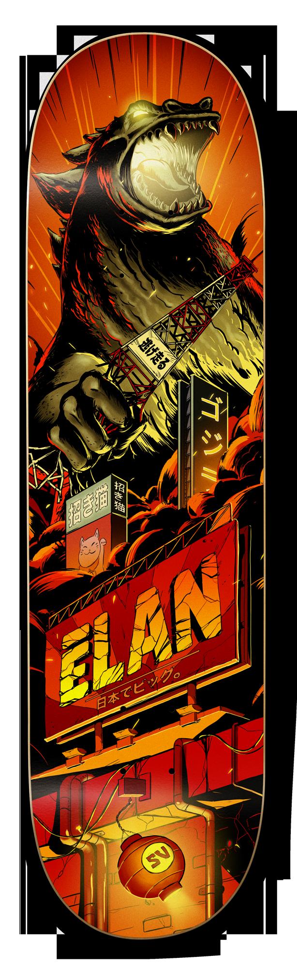 Élan, Godzilla