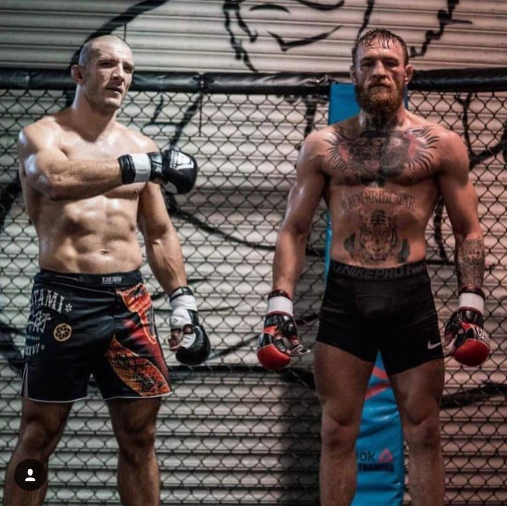 "Ion ""The Bomb"" Pascu with Conor McGregor."