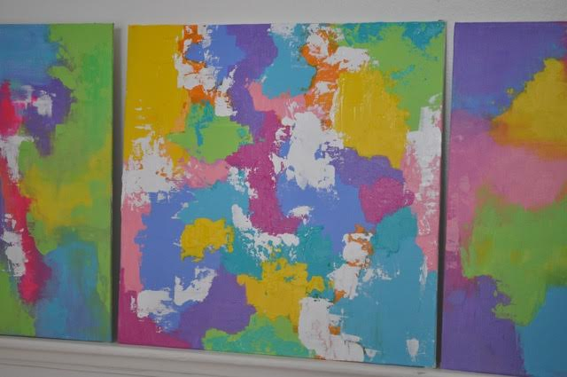 Colored abstracts commissioned by a SF collector.