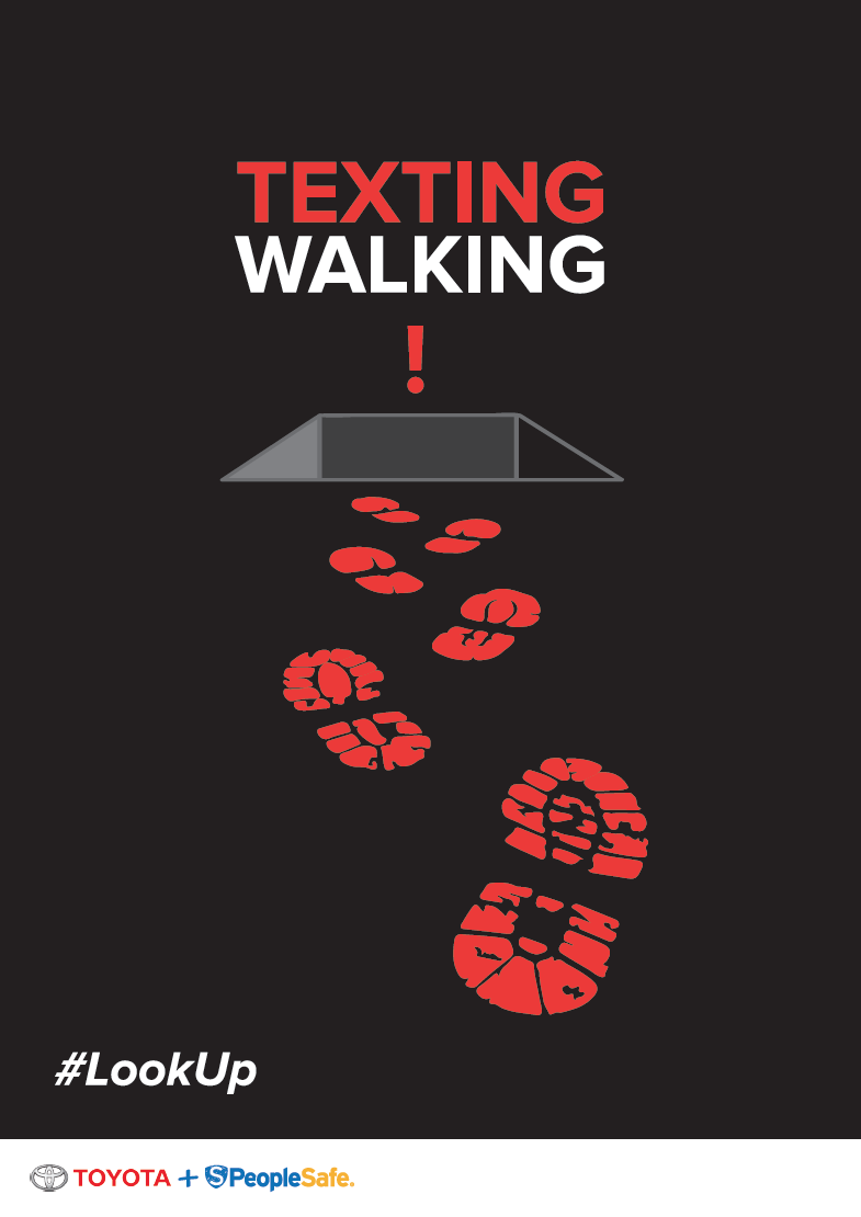 Texting And Walking Peoplesafe