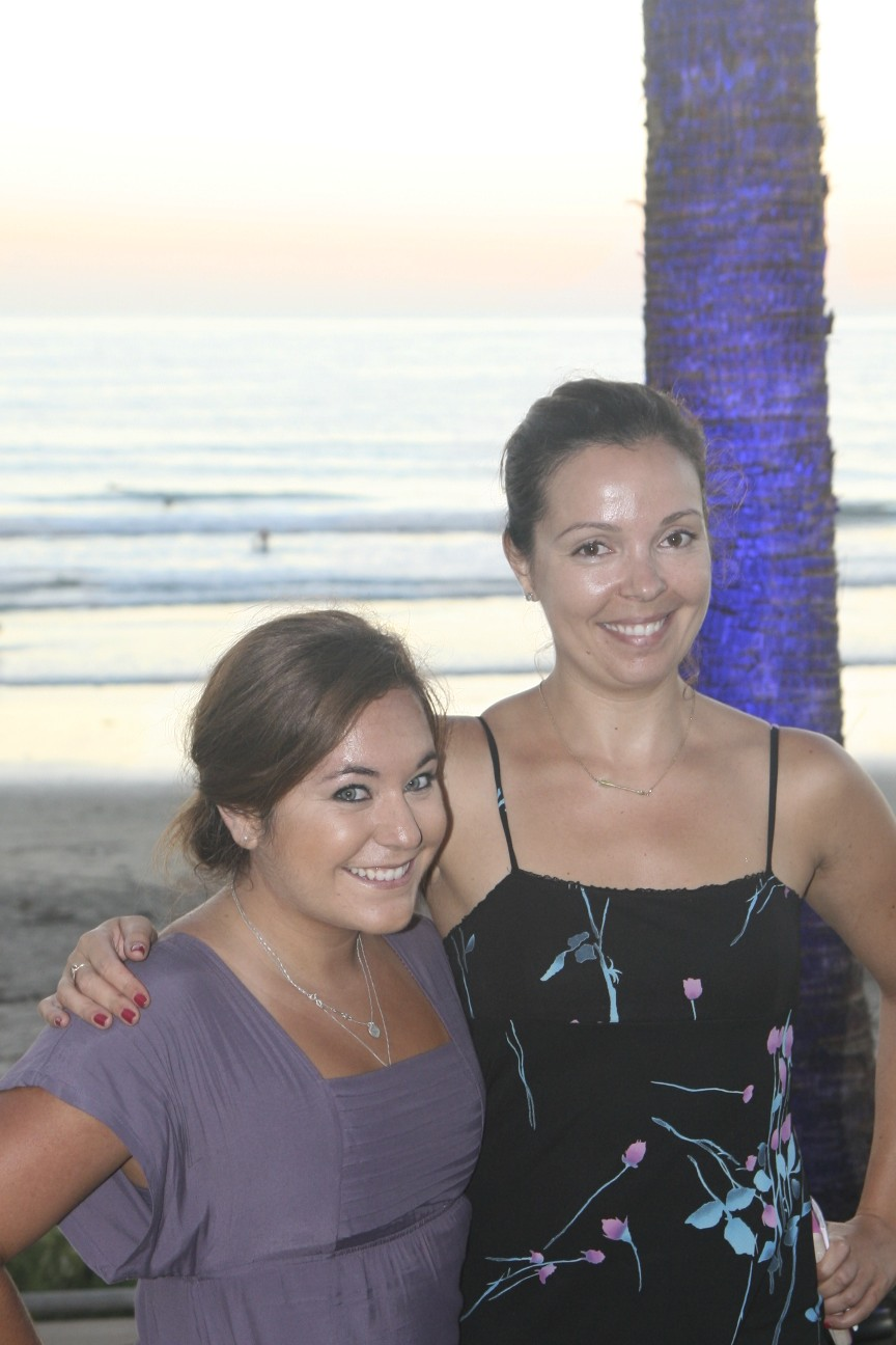 Melissa & I enjoying the sunset!