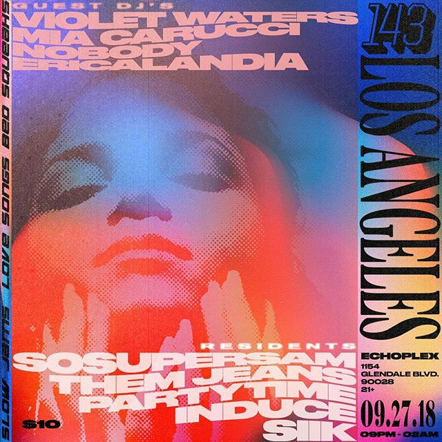 see u tonight at @143worldwide the lineup is wet💧 my tokyo kween @yukibeb and i r going b2b (ps my tshirt giveaway is done and the winner is @_gisellerico_ ty all for playing i'm pregnant now from all of your song submissions)