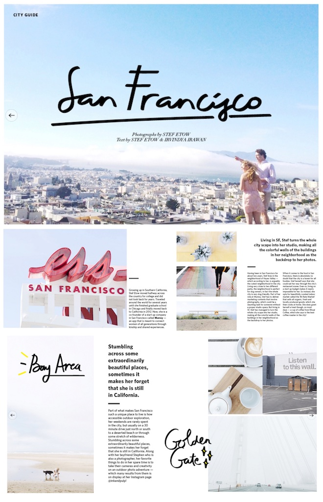 City Guide for 247 COTTONINK Magazine