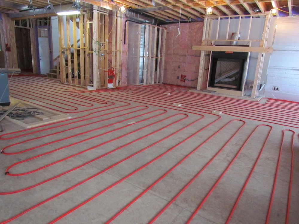 What is hydronic radiant floor heating?