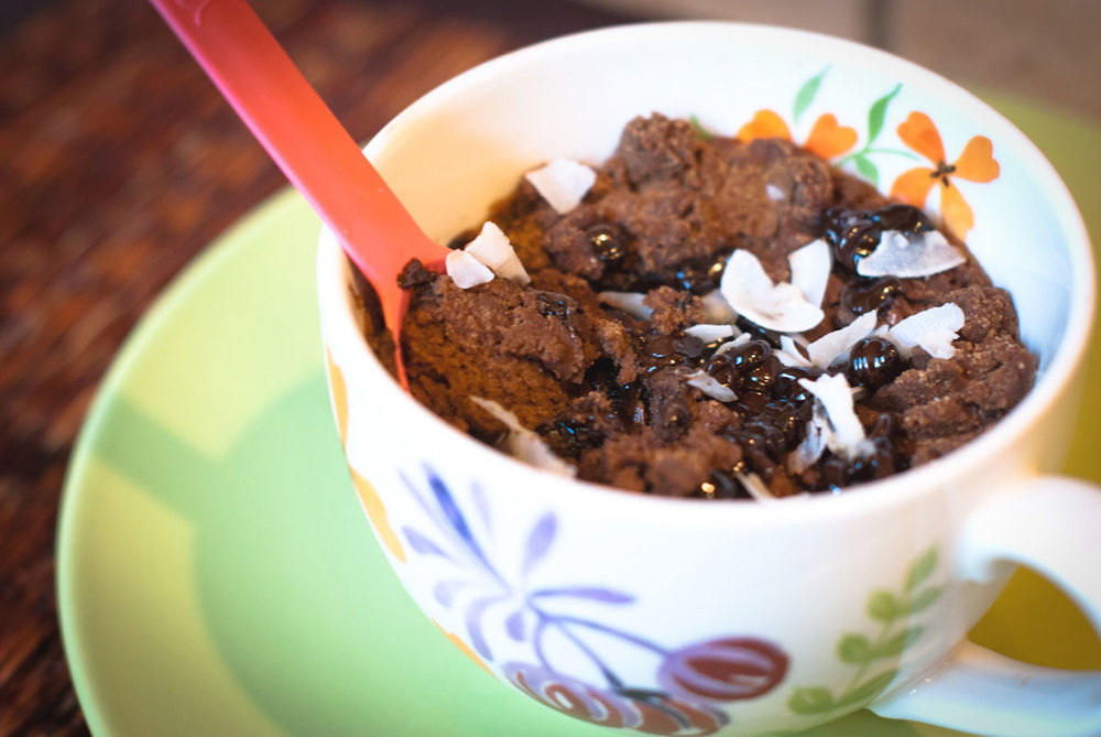 Established California | Grub | Five Minute Chocolate Mug Cake | Serve