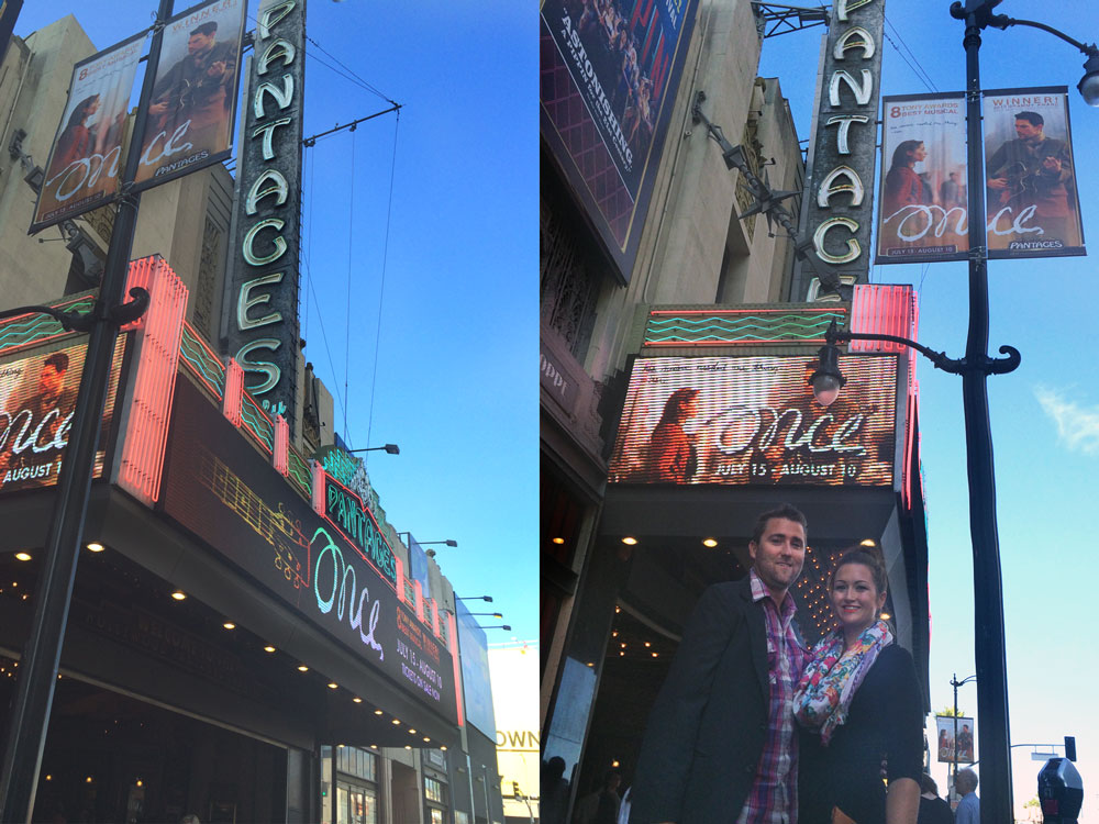Established California | Adventures | Once: The Musical | The Pantages