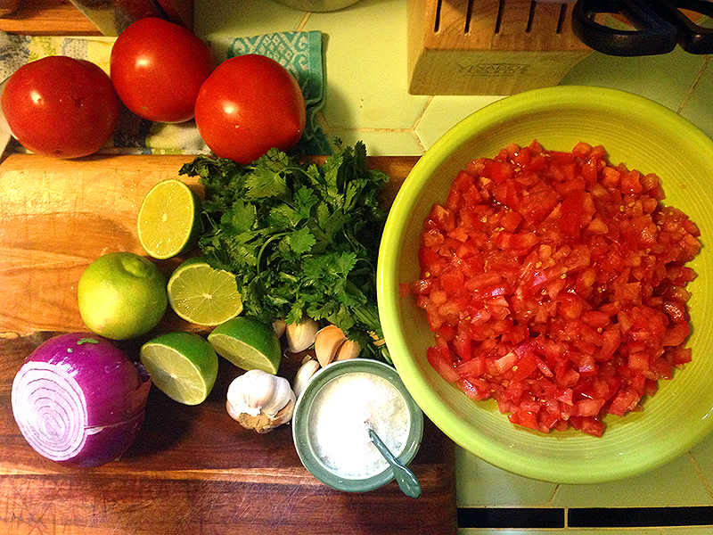 Established California | Grub | Homemade Habanero Salsa | Ingredients