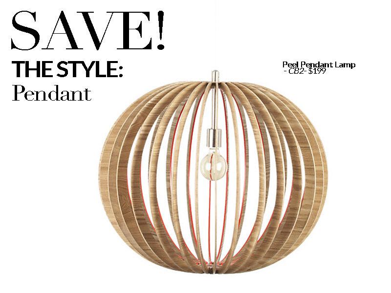 Established California | Habitat | Splurge vs Save Lighting | Pendant Save