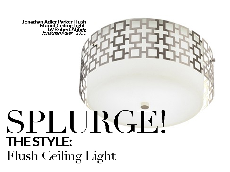 Established California | Habitat | Splurge vs Save Lighting | Flush Ceiling Splurge