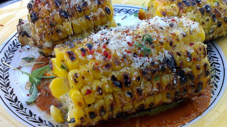 Established California | Grub | The Line Hotel | Fresh Corn