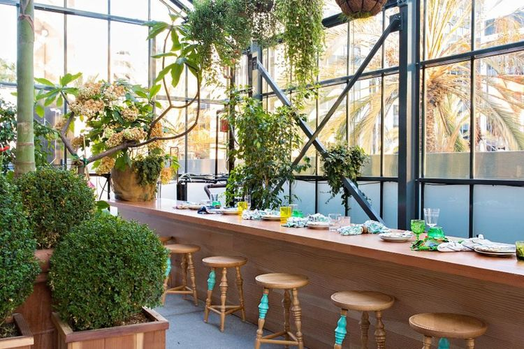 The Line Hotel Commissary Established California