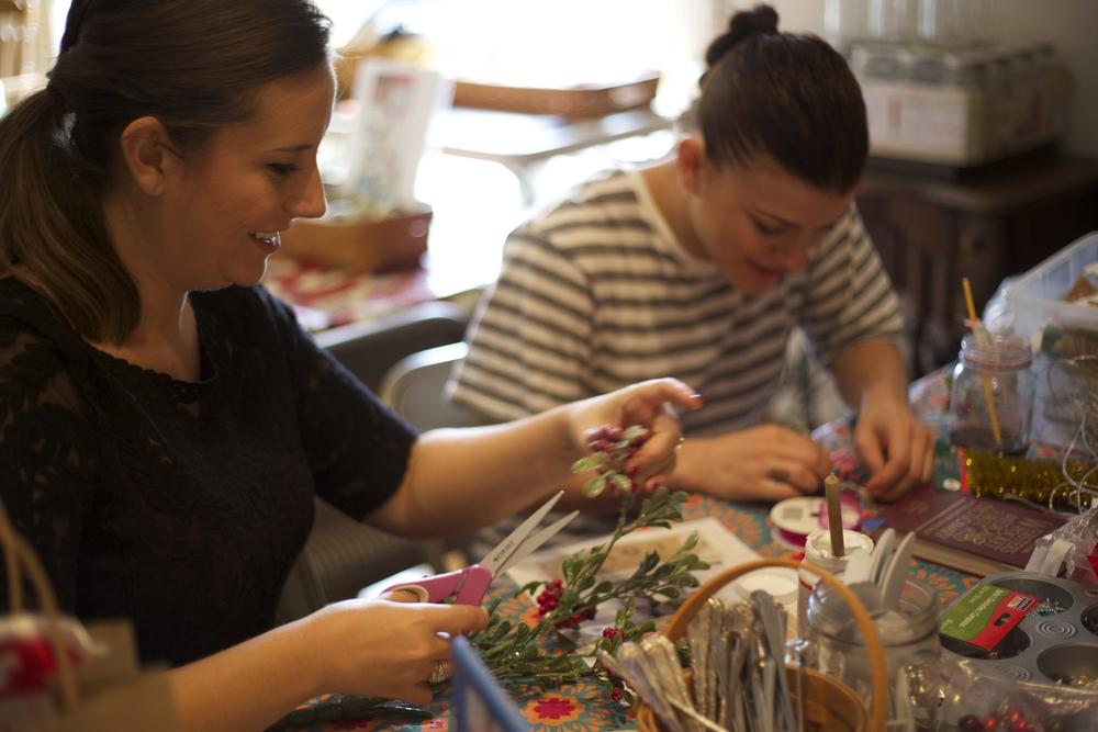 Girls Crafting