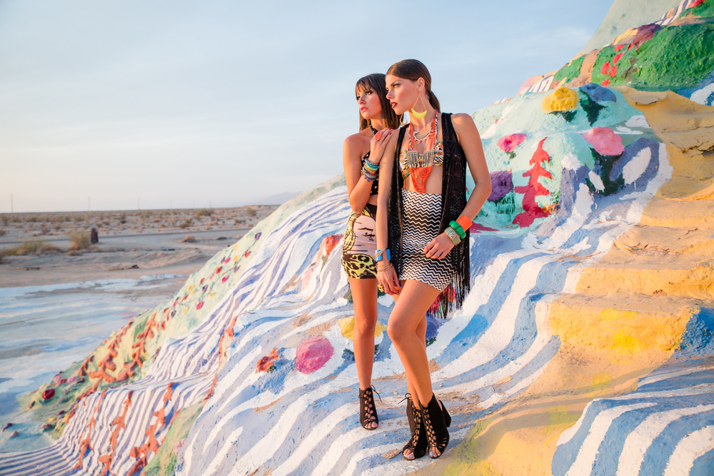 Established California - Bold & Bright Fashion Editorial at Salvation Mountain by Studio Carre