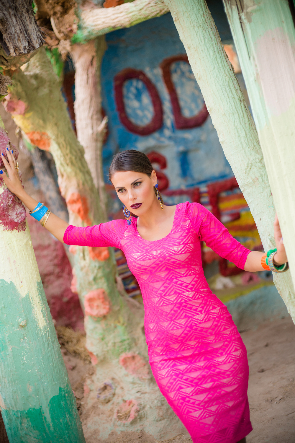 Featured on Established California - Bold & Bright Fashion Editorial at Salvation Mountain by Studio Carre