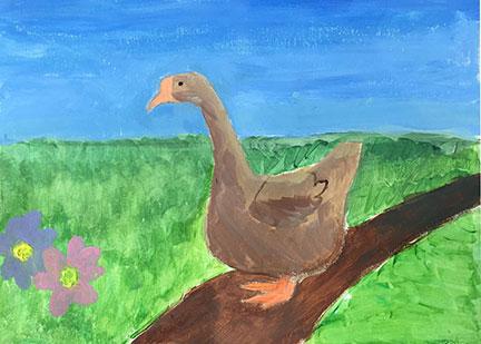 Nicole. 10 y/o. Watercolor.