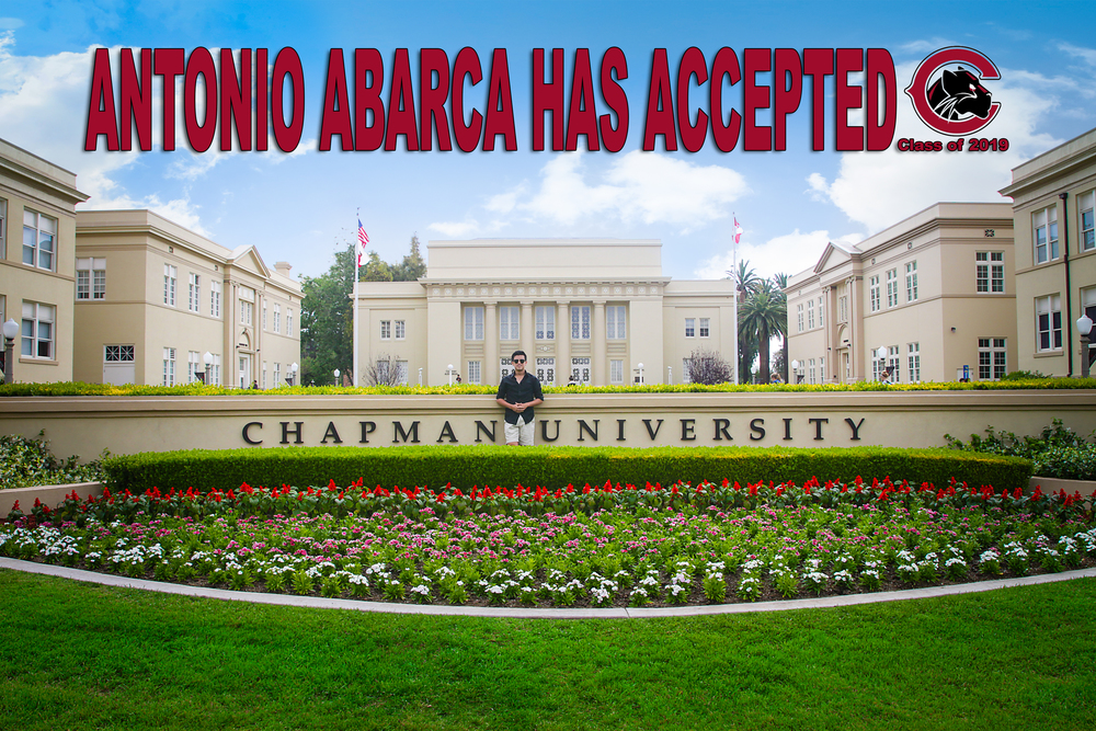 Antonio will be attending Chapman University beginning Fall of 2015.