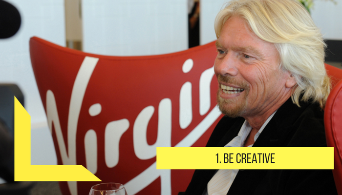 Be creative by richard branson