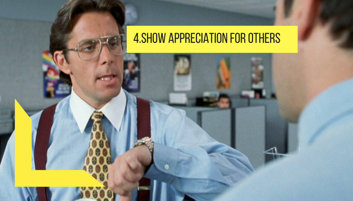 show appreciation for others