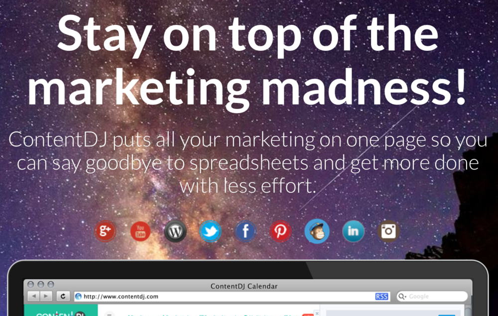 stay on top of marketing madness.