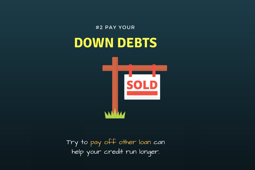 pay your down payment debt