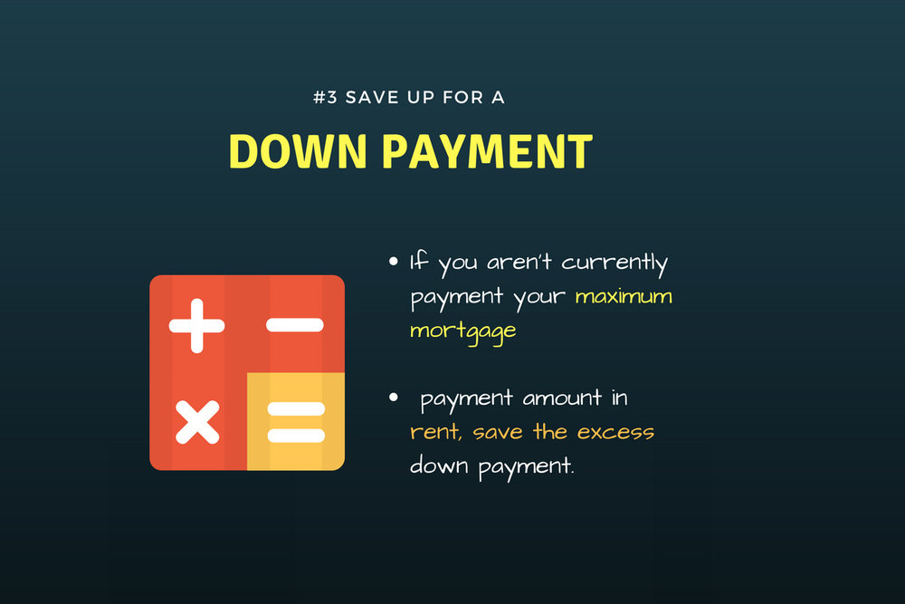 save up for your down payment