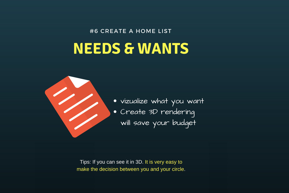create your homelist need & want