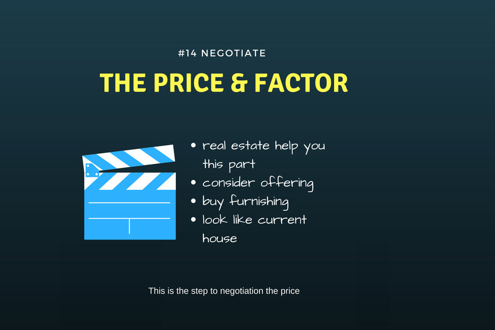 Negotiate the price factor