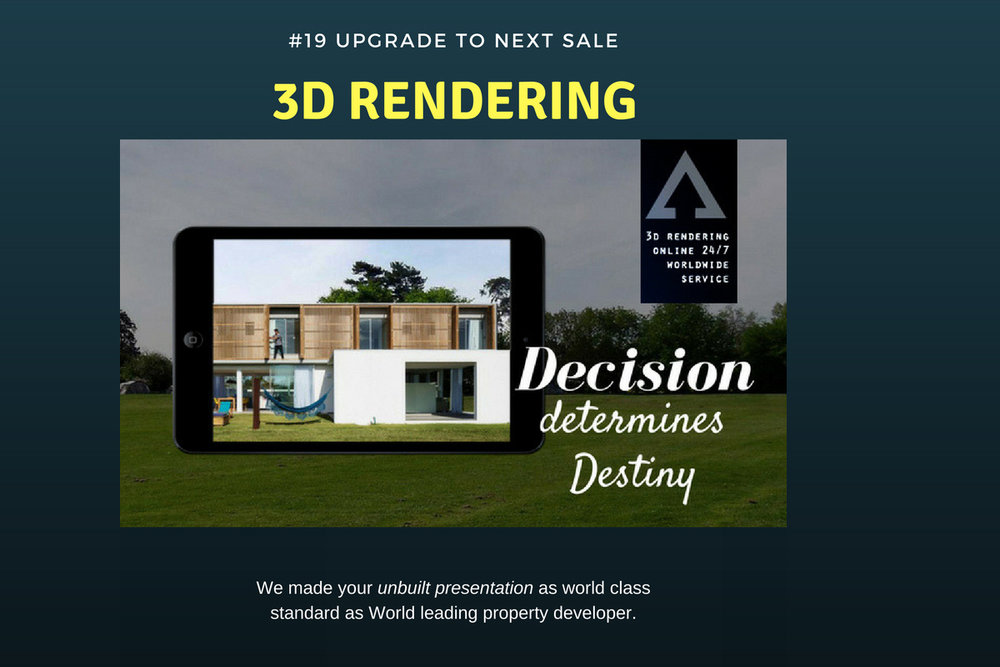 upgrade the sale with us today AGENCY3D