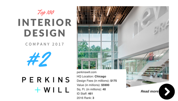 top 100 interior design company perkins will