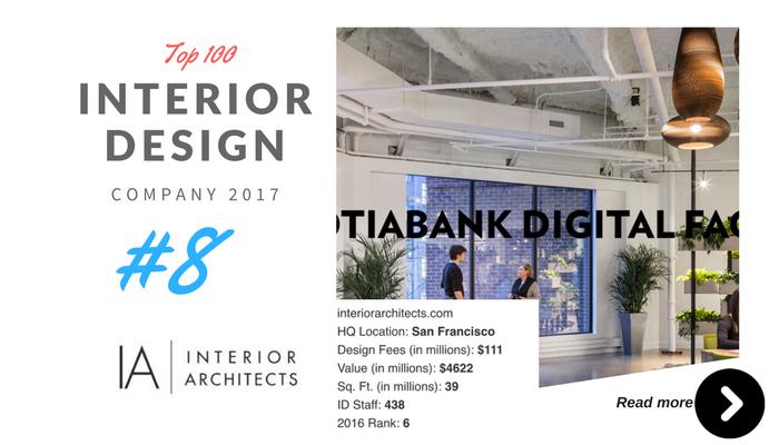 top 100 interior design company IA