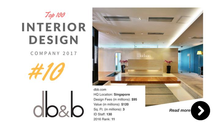 top 100 interior design company db&b