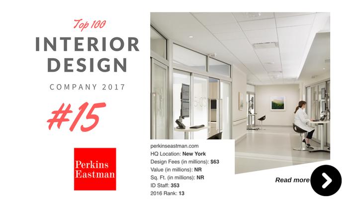 top 100 interior design company perkin eastman