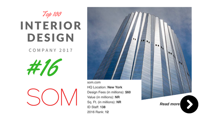 top 100 interior design company SOM