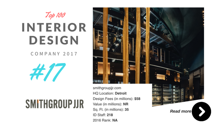 top 100 interior design company smithgroup jjr