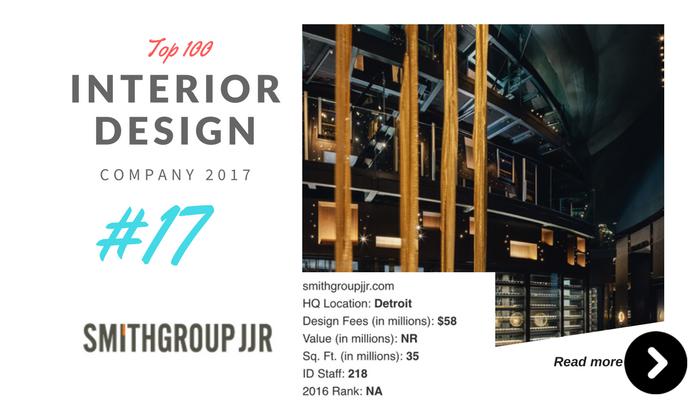 top 100 interior design company smithgroup jjr