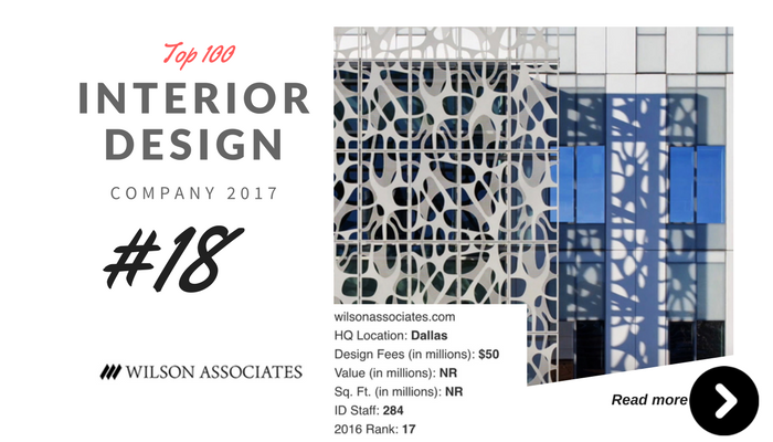 Top 100 Interior Design Company Wilson Associate