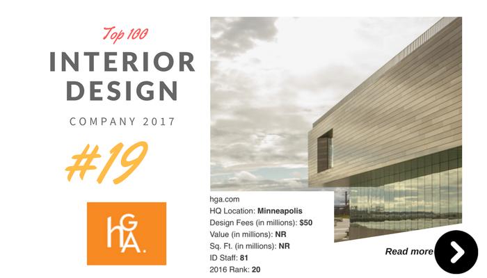 top 100 interior design company HGA