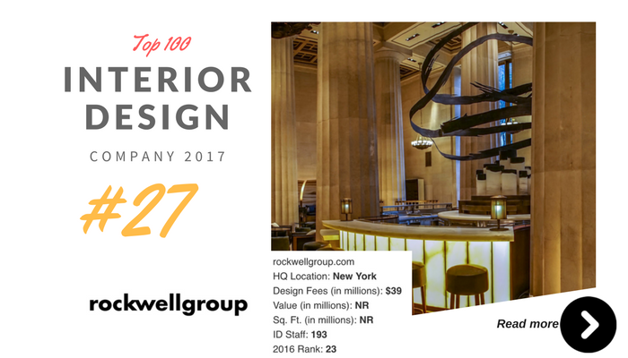 top 100 interior design company rockwell group