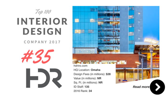 top 100 interior design company HDR