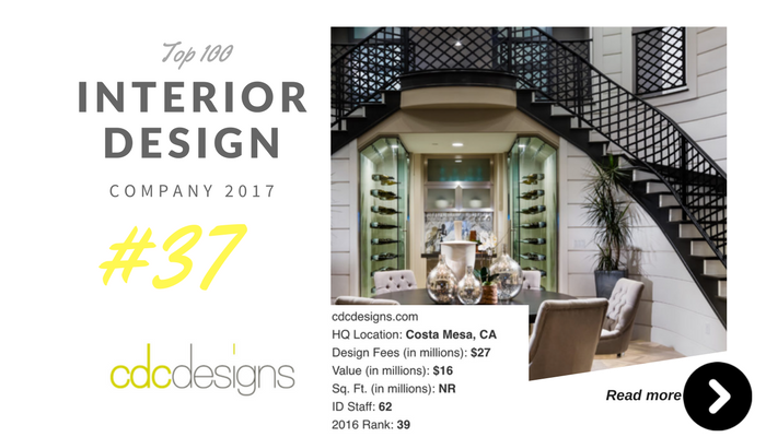 top 100 interior design company cdc design