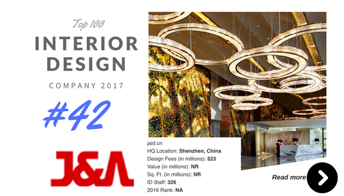 top 100 interior design company J&A