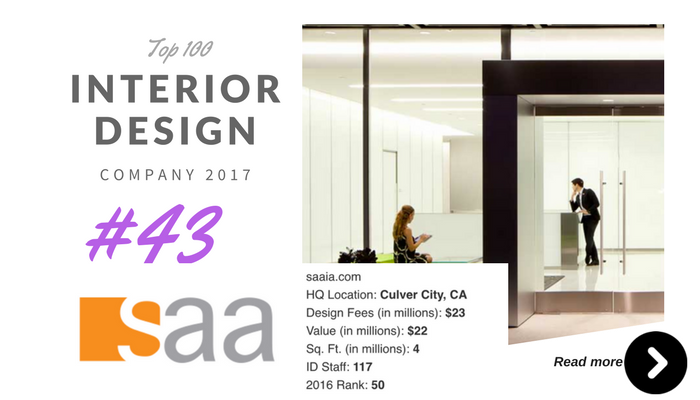 top 100 interior design company SAA
