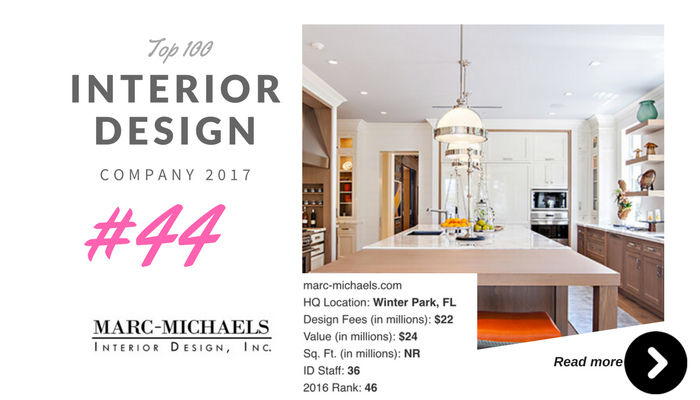 top 100 interior design company Marc michaels