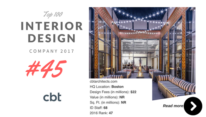 top 100 interior design company CBT