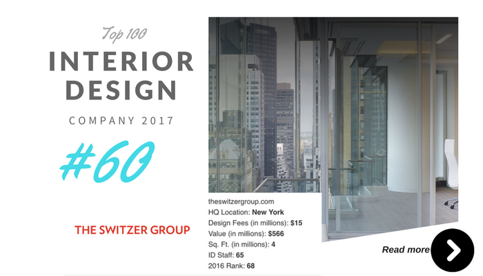 top 100 interior design company the switzer group