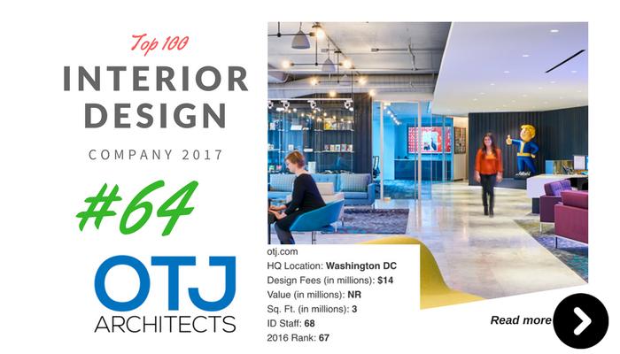 top 100 interior design company OTJ architect