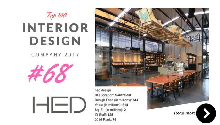 top 100 interior design company HED